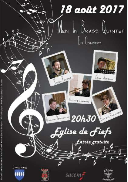 Concert men in Brass Quintet