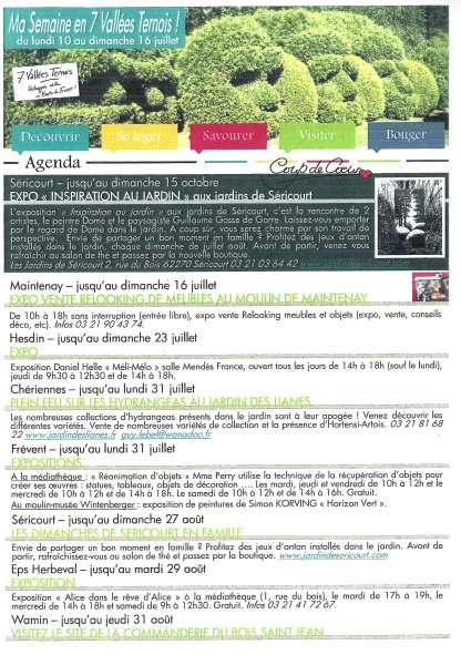Retrouvez chaque semaine les manifestations en Ternois 7 Vallées