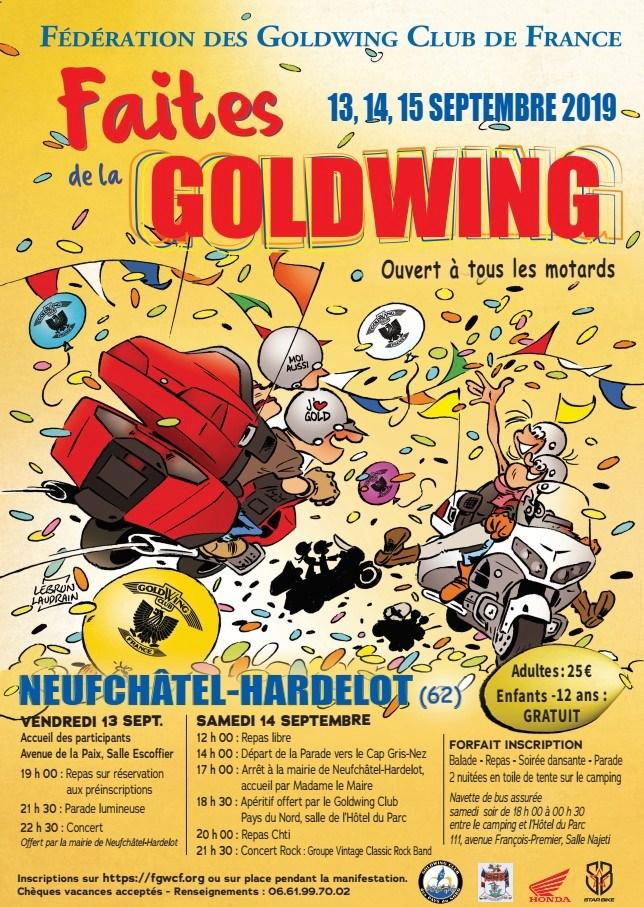 Faites de la Gold à Neufchatel Hardelot 13/15 septembre Affiche-goldwing